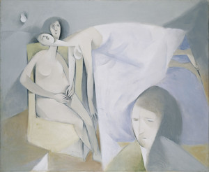 A Sickness, 1951, oil on canvas, 46 x 56 cm