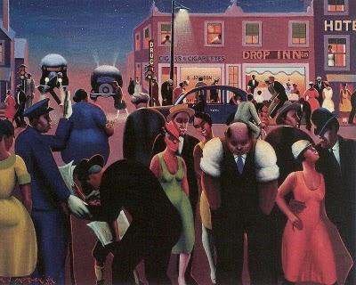 6 Archibald John Motley, Jr (American Harlem Renaissance painter, 1891-1981) Black Belt