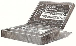 Edison, patentando que es geurndio.